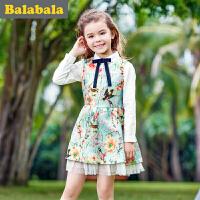 巴拉巴拉童装女童连衣裙中大童裙子春装儿童淑女裙