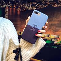 苹果7plus手机壳iPhone8卡通情侣6s全包防摔套8p个性6挂绳x女款软