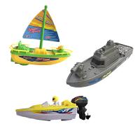 儿童电动帆船 海盗船快艇帆船儿童新款电动马达玩具宝宝泳池浴缸戏水洗澡模型船 标配