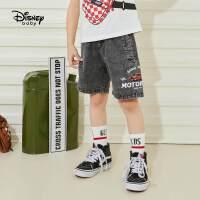 【2件2.4折价:69.3元】迪士尼童装男童牛仔裤儿童裤子2021年夏季新款中裤五分裤时髦帅气