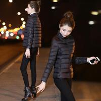棉衣女短款韩版大码修身工装秋冬轻薄外套小棉袄 M 100斤以下