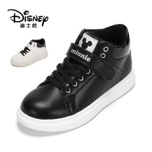 【达芙妮集团】迪士尼 冬季女童鞋魔术贴休闲鞋板鞋