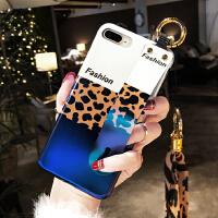 ins超火苹果iphone8plus手机壳xs max蓝光磨砂时尚豹纹7plus手腕带挂绳8x保护套 i6/6s 4.
