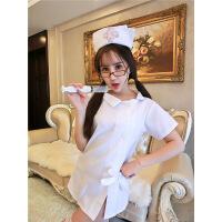 大码性感情趣内衣女夜火护士服角色扮演制服sm激情套装小胸职业装 均码(80-140斤)