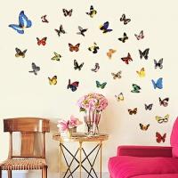 蝴蝶粘纸 可移除墙贴纸墙壁装饰贴画寝室宿舍玻璃墙上贴纸贴画自粘