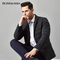 BOSSsunwen男士轻薄羽绒服 立领修身冬季保暖百搭外套西装羽绒服