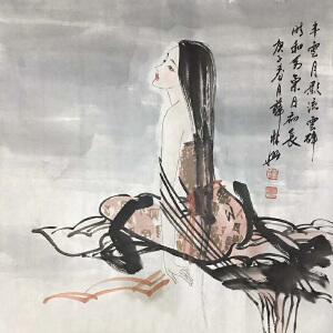 北京林兴画院院长,齐白石艺术研究会理事薛林兴(相思图2)11