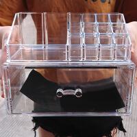 化妆品收纳盒梳妆台透明抽屉式护肤品整理盒亚克力口红收纳架组合
