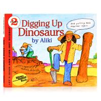 【满300-100】英文原版Digging Up Dinosaurs 寻找* 恐龙科普百科 自然科学入门启蒙 Dinos