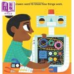 【中商原版】未来之星:工程师 Future Baby 亲子童书 纸板书 英语学习 5~6岁 活动卡片 英文原版