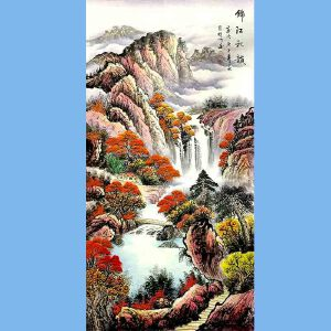 中国美术家协会会员,龙云书画院院长候桂峰(锦江秋韵)2