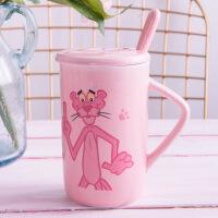 可爱创意陶瓷杯麦片杯儿童奥特曼女生小公主马克水杯早餐杯带盖勺