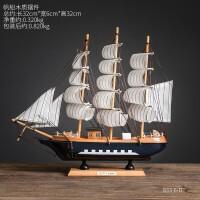 帆船摆件 欧式创意木质摆件个性帆船模型摆设餐厅咖啡厅橱窗软装饰品摆件 32乘3木质帆船摆件4