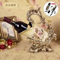 家用欧式复古红酒架家居客厅酒柜装饰品摆件奢华高档树脂葡萄酒架SN7961