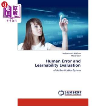 【中商海外直订】Human Error and Learnability Evaluation