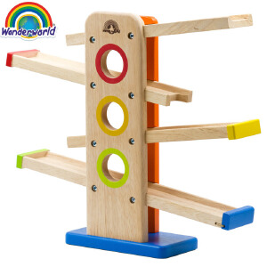 [当当自营]泰国Wonderworld 小车快跑 儿童益智轨道车 趣味滑翔儿童礼物 木质玩具