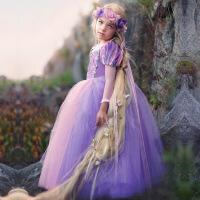 女童长发公主裙冰雪奇缘儿童乐佩公主礼服长袖春夏儿童演出服装