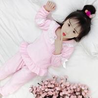 儿童睡衣珊瑚绒女童秋装2018新款韩版潮冬季童装法兰绒家居服套装
