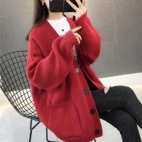 20*码毛衣针织衫开衫女士秋冬季学生秋装韩版毛衣外套上衣