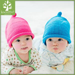 韩国KK树婴儿帽子秋冬0-3-6-12个月宝宝毛线帽保暖针织帽