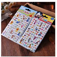 龙彩儿童立体比肩韩国贴纸迪士尼维尼熊幼儿园粘贴米奇妙妙屋