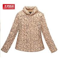 中老年人女冬装棉衣40-50岁妈妈秋冬保暖外套小棉袄加厚 烫金色 L码 (85-100斤)