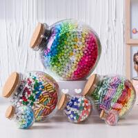 2018创意大号花鼓玻璃瓶 木塞装星星的漂流瓶3344颗储物罐幸运星千纸鹤瓶礼品礼物