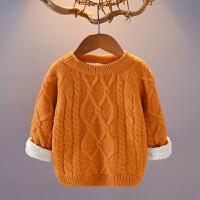 儿童毛衣男童女童秋冬款加绒加厚针织打底衫123456套头宝宝毛线衣