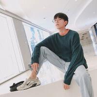 毛衣男冬季针织衫韩版潮流外套纯色男装线衣宽松日系个性套头圆领