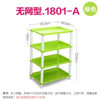 塑料落地置物架3层收纳架带轮厨房用品蔬菜架浴室架子卫生间