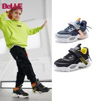 【券后价:168.7元】百丽童鞋儿童运动鞋男2021春季中大童透气老爹鞋儿童户外鞋子
