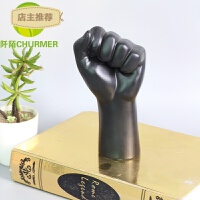 黑人物手指OK加油抽象树脂摆件软装新中式北欧现代客厅茶几样板房SN8762 FQSZ-159 Φ150*H150