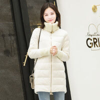 2019冬季韩版女中长款内搭轻薄保暖羽绒服女外套潮 M 80-115斤左右