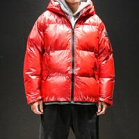 棉衣男士冬季外套潮流亮色宽松加厚棉袄日系黑色大码帅气冬装棉服