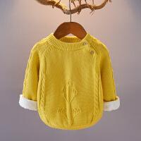 宝宝毛衣加绒加厚2018新款秋冬针织衫男女童套头婴儿线衣外套童装