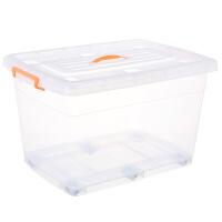 特大�透明塑料收�{箱整理箱玩具衣服被子置物周�D�ξ锵渥� 高透明