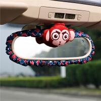 可爱猴子汽车后视镜套罩 公仔摆件车内装饰品
