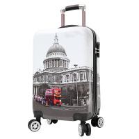 收�{箱�和�拉�U箱2019新款卡通�W生行李箱�f向�耐磨�和�旅行箱