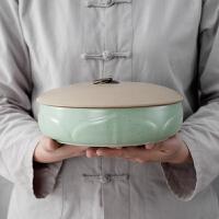 陶瓷茶叶罐茶饼罐大号白茶普洱茶饼罐包装盒家用