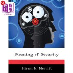 【中商海外直订】Meaning of Security