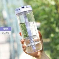抖音网红玻璃摇摇杯便携豆浆蛋白质粉水果奶昔便携创意潮流运动健身水杯子 (赠杯刷)