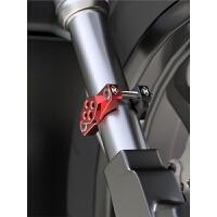 125摩托车灯装饰改装车把配件自行车通用射灯支架固定保险杠夹具