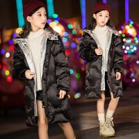 儿童棉衣中长款冬季2018新款韩版洋气小女孩外套潮