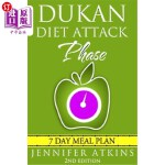 【中商海外直订】Dukan Diet: Attack Phase Meal Plan: 7 Day Weight Lo