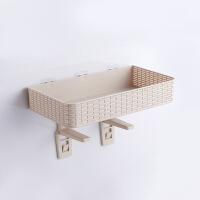 免打孔浴室置物架壁挂卫生间用品吸壁式厕所马桶塑料收纳架子