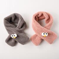 儿童围巾冬季宝宝围巾毛绒保暖婴儿围脖围巾加绒男童女童围巾秋冬