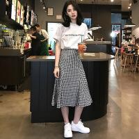 《京东优选》小清新上衣配裙子套装女2019夏季新款港味chic半身裙两件套连衣裙