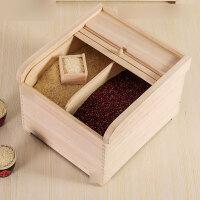 实木质装米桶储米箱5kg10kg米缸米盒子家用20斤30斤虫潮面粉箱家用米桶