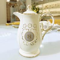 陶瓷耐热凉水壶带托盘欧式家用水杯套装骨瓷水壶水具套装冷水壶 H水具