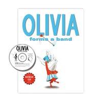 英文原版 奥莉薇玩单人乐队 绘本+CD 小猪奥莉 Olivia Forms a Band [With CD (Audi